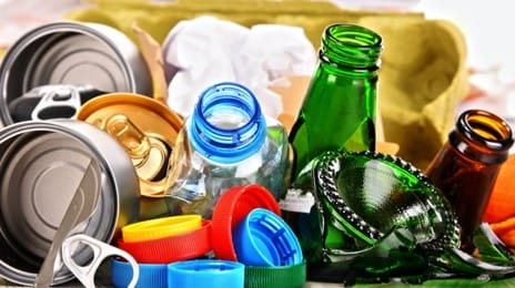 Recyclable materials, waste