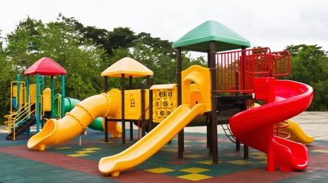 Playgrounds, swings, sandboxes